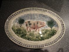 Emma Bridgewater RARE Hand Painted Pig Platter by Matthew Rice Pottery Cafe, Emma Bridgewater Pottery, Stoke On Trent, Platter, Hand Painted, Dessert Plates, Dishes, Marmalade, How To Make