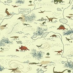 """Brothers and Sisters V Mesozoic Era 33' L x 20.5"""" W Animals Wallpaper Roll"""