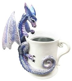 "Amy Brown ""Whatcha Drinkin"" Peeking Dragon For The Love Of Tea Coffee Cup Sculpture offered by istatue on eBay"