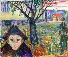 dappledwithshadow:  Jealousy in the Garden Edvard Munch 1929-1930