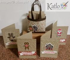 Stampin Up Candy Cane lane card set and bag