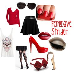 """Fem!Dave Strider"" by aquaticchamber on Polyvore"
