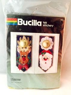 Bucilla 82200 Felt Applique Holiday Christmas Santa Rudolph Door Knob Covers (4) #Bucilla