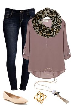 flowy top with a fun scarf
