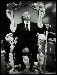 Alfred Hitchcock chillin' like a boss