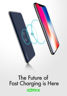 Up to 4x FASTER wireless charging speeds for ON-THE-GO both Android & iPhone with QI, PD2.0, QC3.0. | Check out 'IDMIX:World's Fastest Wireless PowerBank & Charger' on Indiegogo.