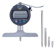 "Mitutoyo Series 547 ABSOLUTE Digimatic LCD Depth Gauges, Indicator Type, Inch/Metric, 0-8""/0-200mm Range"
