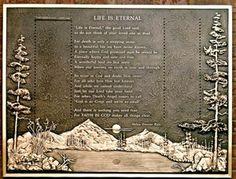 """Scattering Garden Plaque - """"Life is Eternal"""" Poem by Helen Steiner Rice"""