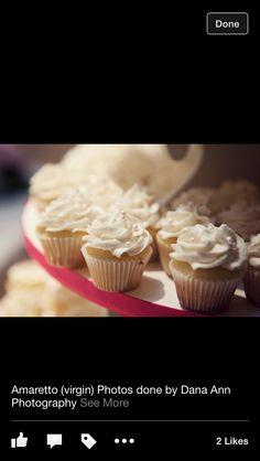 Amaretto bridal cupcakes