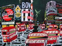Miroslav Sasek  #london #illustration #cocacola #bus #city