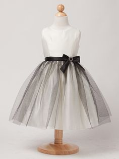 This dress reminds us of old Hollywood glamour...wear with ringlets and dancing shoes. Ivory Satin & Glitter Mesh Dress
