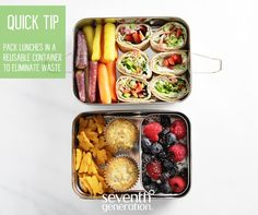 SEVENTH GENERATION had this to say about ECOLunchbox: Seventh Generation, makers of planet-friendly cleaning supplies, green household wares, baby-safe diapers sent out this handy tip to the internet: Quick tip for school lunches: reach for reusable options while packing. We love these stainless containers from ECOlunchbox. Great green tip!