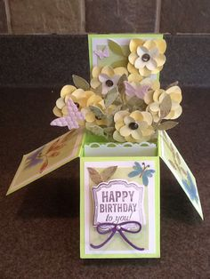 Card in a box explosive flowers from Stampin Up