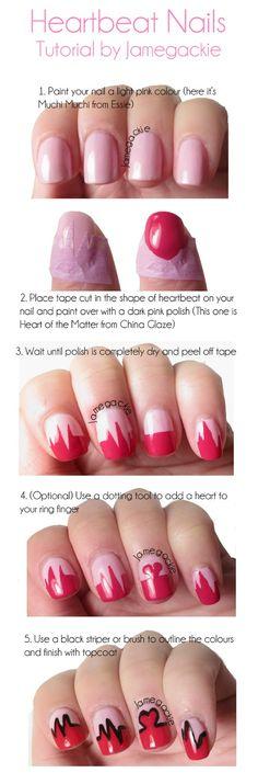 V-day Nails Tutorial!