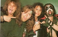 Kirk Hammet,Lars Ulrich,King Diamond and Andy LaRoque