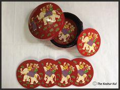 Papier Mache Coaster Set