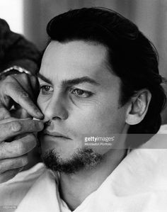 Austrian actor Helmut Berger in the make up room for an ageing make up He will