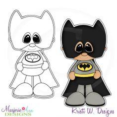 Little Super Hero 1 Digital Stamp + Clipart - Click Image to Close Foam Sheet Crafts, Hero Crafts, Baby Batman, Sand Crafts, Cute Clipart, Paper Piecing Patterns, Felt Dolls, Digital Stamps, Scrapbook Cards