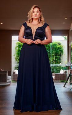 Vestidos plus size. Bridesmaid Dresses Plus Size, Evening Dresses Plus Size, Plus Size Dresses, Curvy Fashion, Plus Size Fashion, Vestidos Plus Size, Formal Dresses, Wedding Dresses, Size Model