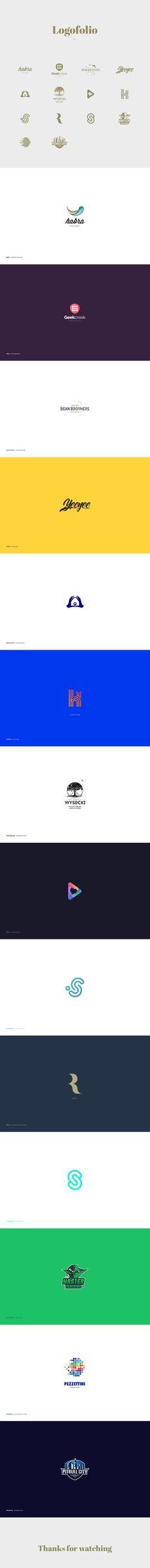 """Popatrz na mój projekt w @Behance: """"Logofolio 01"""" https://www.behance.net/gallery/60073101/Logofolio-01"""