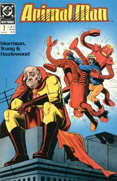 The cover to Animal Man #7 (1989), art by Brian Bolland