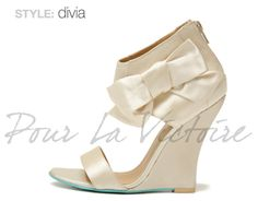 Pour La Victoire to launch bridal shoe collection exclusively on Zappos - What's Haute™ Wedding Wedges, Wedge Wedding Shoes, Bridal Shoes, Bridesmaid Wedges, Lace Wedges, Bare Foot Sandals, Here Comes The Bride, Shoe Game, Shoe Collection