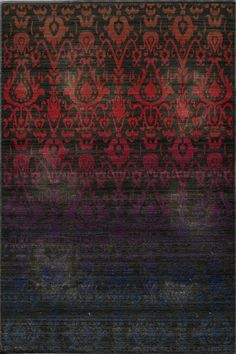 Kind of dark, but very interesting area rug from Momeni.  The Vintage Ombre VIN-1 rug located at Bold Rugs