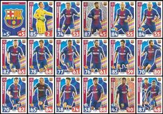 ce6b24db5 Match Attax Champions League 2017 18 Barcelona Full 18 Card Set 17 18   Amazon.co.uk  Toys   Games