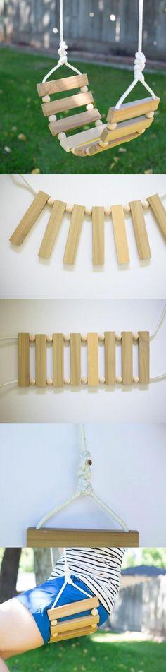 Columpio fácil de armar - momtastic.com - DIY Tree Swing