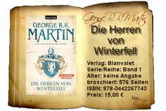 his and her books: ♂ Die Herren von Winterfell - Das Lied von Eis und Feuer 01 (George R. R. Martin) [Rezension]