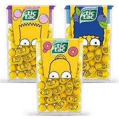 Tic Tac The Simpsons Limited Edition 2016 All Pills Printed Your Choose