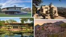 Frank Lloyd Wright homes have tons of cachet, but there's a dark side to owning these real estate masterpieces. For one, they're hard to sell. School Architecture, Art And Architecture, Ennis House, Frank Lloyd Wright Homes, Cedar Lake, New Home Construction, Modern Buildings, Estate Homes, Curb Appeal