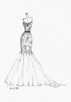 дизайн одежды карандашом 2