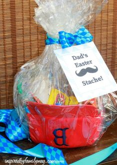 Don't leave Dad out this #Easter. Stache your dad's #Easter basket with all his favorite things. Check out @Kroger Co for inspiration. #EasterBasketHop