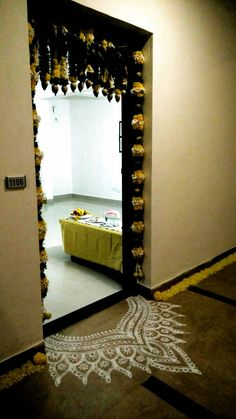 diwali decoration #diwali decoration Diwali Decorations At Home, Festival Decorations, Flower Decorations, Wedding Decorations, House Decorations, Indian Home Decor, Diy Home Decor, Room Decor, Wall Decor