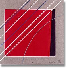 Silvano Bozzolini - Senza Titolo - 1986 - Tecnica mista e collage su cartone, 25 x 25 cm.