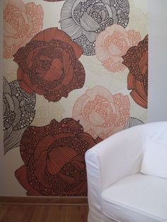 Easy 10-minute wall makeover: reusable and repositionable wall murals!