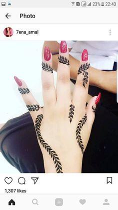 Henna design Henna Designs Arm, Finger Henna Designs, Mehndi Designs 2018, Stylish Mehndi Designs, Henna Tattoo Designs, Arte Mehndi, Henna Mehndi, Mehendi, Henna Art
