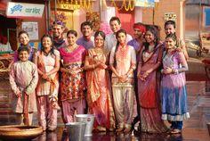 The entire family celebrates Holi together