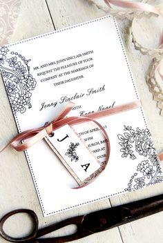 Romantic Classic Wedding Invitation DIY Digital by TheDIYStore, $19.95