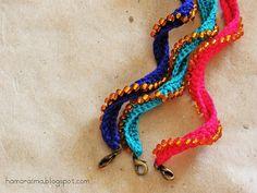 hamoraima: Tutorial pulseras de crochet / ganchillo