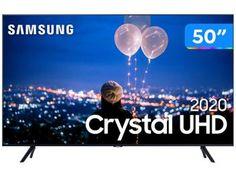 "Smart TV Crystal UHD 4K LED 50"" Samsung - 50TU8000 Wi-Fi Bluetooth HDR 3 HDMI 2 USB - Magazine Lojamagalu1000"
