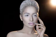 #fatimanasir #creative #makeup #makeupartist #icehair #kryolan #icequeen #facelace #swarovskielements #opi Ice Hair, Face Lace, Facebook Business, Ice Queen, Dark Beauty, Opi, Septum Ring, My Photos, Hoop Earrings