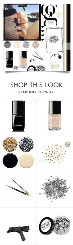 """""""Just nails!"""" by prettyposh ❤ liked on Polyvore featuring beauty, Chanel, Jin Soon and Lanvin"""