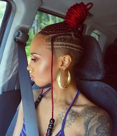 # micro Braids with shaved sides 10 Badass Braids with Shaved Sides for Women Micro Braids, Braid Styles, Short Hair Styles, Natural Hair Styles, Mohawk Styles, Shaved Side Hairstyles, Braided Hairstyles, Ethnic Hairstyles, Girl Hairstyles
