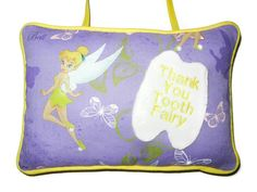 Tooth Fairy Pillow with Pocket for Children in by craftcrazy4u, $15.00