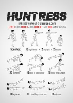 Huntress Workout by Neila Rey Hero Workouts, Gym Workouts, At Home Workouts, Neila Rey Workout, 100 Workout, Boxer Workout, Kids Workout, Fit Girl Motivation, Fitness Motivation