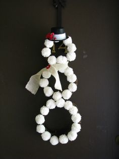 Mrs. Frost Christmas Snowman Wreath.