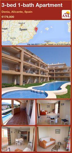 3-bed 1-bath Apartment in Denia, Alicante, Spain ►€179,000 #PropertyForSaleInSpain