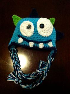 Monster Crochet hat on Etsy...for bro?
